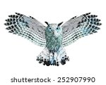 Stock photo owl illustration owl watercolor like graphics t shirt graphics 252907990