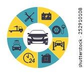 car service infographics. auto... | Shutterstock .eps vector #252910108