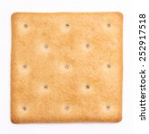 cheese cracker isolated on...   Shutterstock . vector #252917518