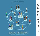 social network media global... | Shutterstock .eps vector #252917560