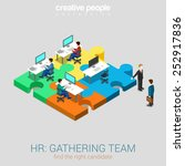 hr human relations gathering... | Shutterstock .eps vector #252917836