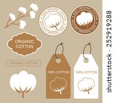 set of organic labels and... | Shutterstock .eps vector #252919288