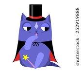 vector illustration of a cat... | Shutterstock .eps vector #252919888