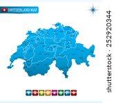 switzerland map   Shutterstock .eps vector #252920344
