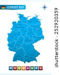 germany map | Shutterstock .eps vector #252920359