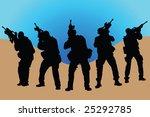 arms  soldier  guns  vector ... | Shutterstock .eps vector #25292785