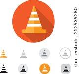 traffic cone icon | Shutterstock .eps vector #252939280