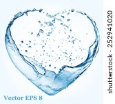 valentine heart made of blue... | Shutterstock .eps vector #252941020