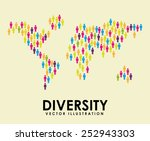 diversity concept design ... | Shutterstock .eps vector #252943303
