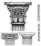 column capitals corinthian ... | Shutterstock .eps vector #252945508