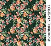 wildflowers seamless pattern | Shutterstock . vector #252954568
