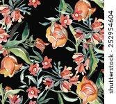 wildflowers seamless pattern | Shutterstock . vector #252954604