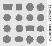 set of black shield retro... | Shutterstock .eps vector #252960418