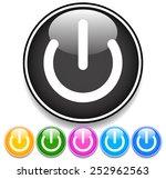 power button   symbol vector....