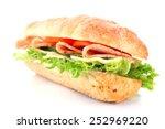 fresh sandwich isolated on white | Shutterstock . vector #252969220