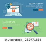 flat banners set. security... | Shutterstock .eps vector #252971896