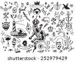 big vector set of hand drawn... | Shutterstock .eps vector #252979429