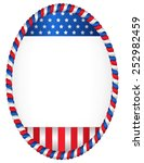 Red And Blue Oval American Flag ...