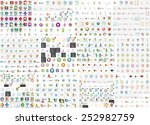 logo mega collection  abstract... | Shutterstock .eps vector #252982759