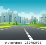 illustration of a road to the... | Shutterstock .eps vector #252983938