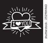 i love you  | Shutterstock .eps vector #252984463