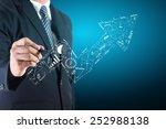 business success concept ... | Shutterstock . vector #252988138