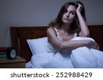 view of problems with sleeping... | Shutterstock . vector #252988429