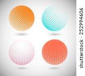 set of halftone vector...   Shutterstock .eps vector #252994606