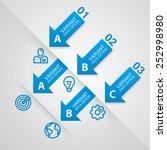 modern business steps origami... | Shutterstock .eps vector #252998980