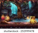 Illustration Fantasy Cave With...