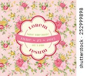 wedding vintage invitation card ... | Shutterstock .eps vector #252999898