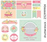 scrapbook design elements  ... | Shutterstock .eps vector #252999904