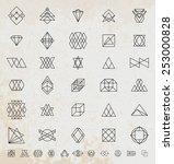 set of vintage hipster labels.... | Shutterstock .eps vector #253000828