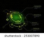 sci fi futuristic user... | Shutterstock .eps vector #253007890