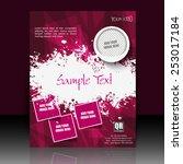 professional business flyer ... | Shutterstock .eps vector #253017184