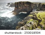 scottish coastline landscape in ... | Shutterstock . vector #253018504