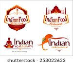 indian food logo. creative... | Shutterstock .eps vector #253022623