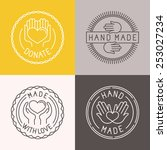 vector hand made labels and...   Shutterstock .eps vector #253027234