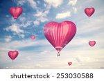 love balloons  vintage style... | Shutterstock . vector #253030588