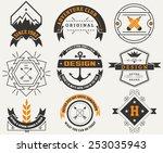 logotypes set   vintage... | Shutterstock .eps vector #253035943