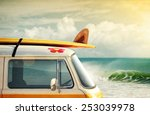 idyllic surfing way of life... | Shutterstock . vector #253039978