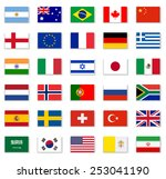 popular flag collection | Shutterstock .eps vector #253041190