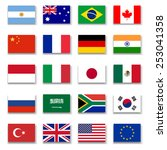 g 20 group flag collection...