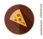 pizza flat icon | Shutterstock .eps vector #253043110
