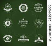 typographic saint patrick's day ... | Shutterstock .eps vector #253044070