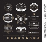 retro vintage insignias or... | Shutterstock .eps vector #253044409