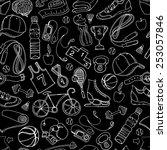 illustration black and white... | Shutterstock . vector #253057846