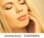 dental care and toothache....   Shutterstock . vector #253058896