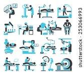 robotic surgery icons set ... | Shutterstock .eps vector #253066993