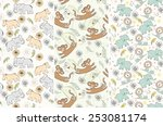 hand draw seamless pattern with ... | Shutterstock .eps vector #253081174